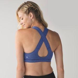 Lululemon All Sport Bra Giant Herringbone Blue